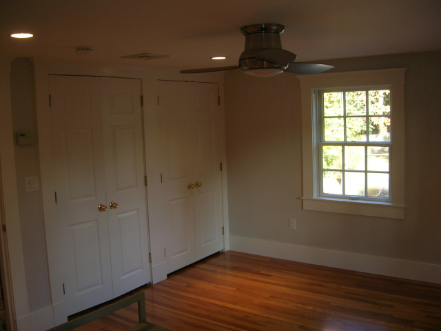 refinished ceiling, walls, and trim