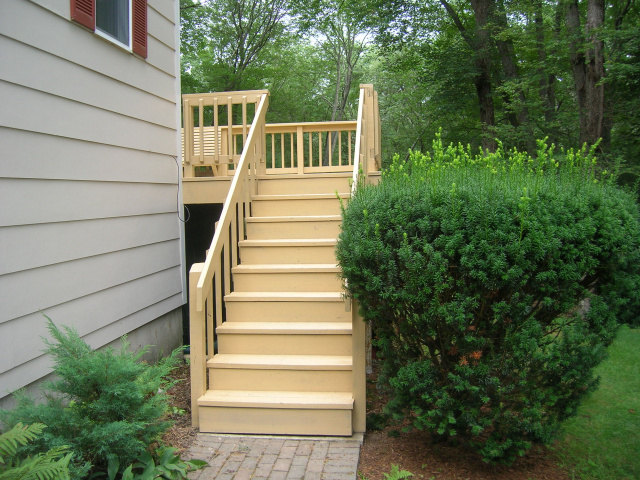 Stain unfinished pressure treated deck